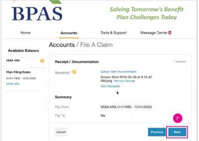BPAS Receipt Confirmation
